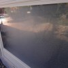 Before cleaning the windows with the Mr. HardWater hard water stain removal system.